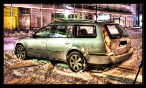 HDR Dirty Ford Mondeo at Snow by HAPZ86