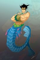 Merman by Sandoval-Art
