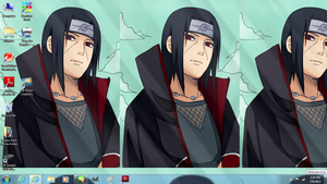 my Sexy Itachi Desktop~ by itasasu2002