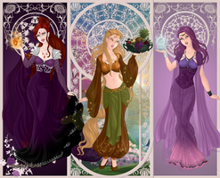 Goddess: Ariel, Magic y Krystal by 04Kitsu08