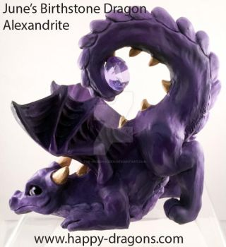 June's Birthstone Dragon Alexandrite by The-GoblinQueen