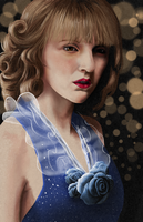 Lady in blue by martialartist11