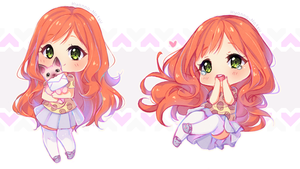 Commission - Sweet Alice chibis 4/6 by Hyanna-Natsu