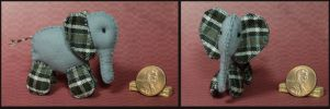 Miniature Plaid Elephant Plushie by Kyle-Lefort