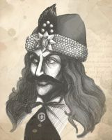 Vlad the Impaler by koffinkandy