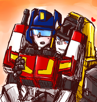 Victory Leo and Star Saber by osame-misaka