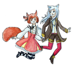 [SM] Happily skipping together by Niverdia