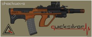 Quicksilver Industries: 'Iriomote' Assault Rifle by Shockwave9001