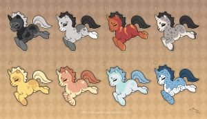 Adoptables: Unicorn Ponies 3 by MySweetQueen