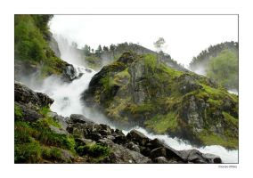 Latefossen in Norway by grugster