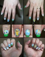 Weather and Rain girl nails by elvaniel