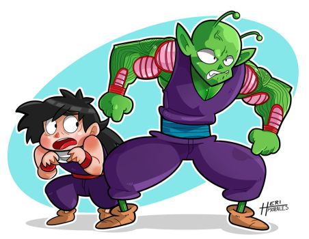 Piccolo and Gohan by Heriplayer