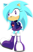 Commission - Aqua the Hedgehog by Noble-Maiden