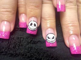 Jack Skellington - Nail Art by DignifiedDoll