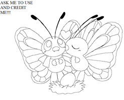 pokemon group lineart2 by michy123