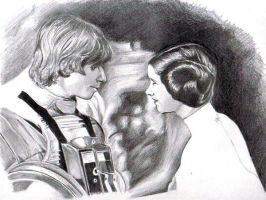 Luke + Leia Skywalker - ANH by leiaskywalker83