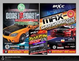 Basic productions carshow posters by jsonn