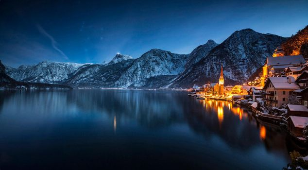 ...night panorama of hallstatt I... by roblfc1892