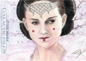 Star Wars GF - Queen Amidala Sketch Art Card 1 by DenaeFrazierStudios