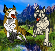 WOLFIE AND JOHN REQUEST by KITRAM