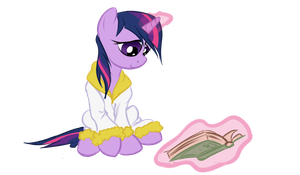 After Shower Reading by Elslowmo