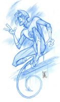 SDCC '08 Nightcrawler sketch by hyperjack08