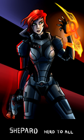 Mass Effect: Commander Shepard (Female) by AndrewMartinD