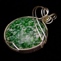 Tree Agate Pendant in Silver by innerdiameter