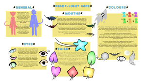 Species Sheet - Night-Light Imps [CLOSED SPECIES] by Ask-The-OC-Factory