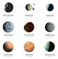 PNG Planets of Star Wars by clicheguevara
