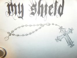 rosary drawing for tattoo by missjean