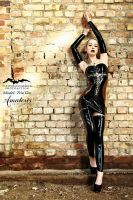 TrizTaess Latex-Dress  (black-transparent)2 by AmatorisLatexCouture