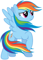 Rainbow Dash - colors of the wind, remade by Stabzor
