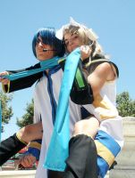 Vocaloid Cosplay: Rin y Kaito by YagamiSayu