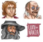 The Hobbit bookmarks #1 by Luminanza