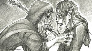 Raistlin and Dalamar: Heartfelt I by Kabudragon
