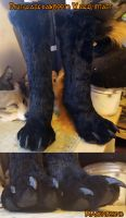 Digitgrade boots with heel intact and hidden by Magpieb0nes