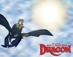 Embbu90 request: Toothless and Hiccup in Flight by 4everSabi