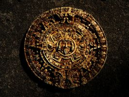 Aztec Calendar Stone I by dull-stock