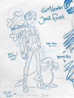 Gym Leader Jack Frost sketch by hielorei