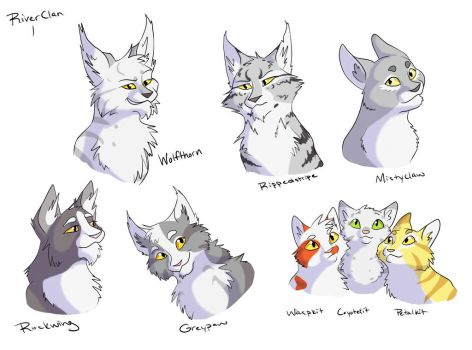 SCB: Riverclan-1 Wolfthorn's family by Simatra