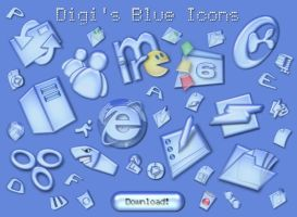 Blue Icons 1 by digitalresource