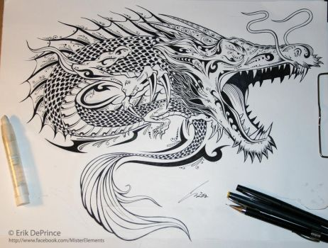 Final inked tattoo dragon by ErikDePrince