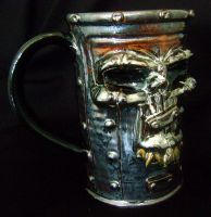 Metal Head Beer Mug- complete by thebigduluth