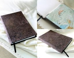 Faux Leather/ Suede Journal by Adonenniel