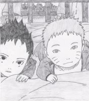 Baby Naruto And Sasuke by melia161