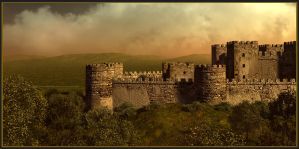 Castle Rodluc - Scotland by DigitalPainters