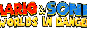 Mario and Sonic Worlds in Danger Logo (Revamped) by KingAsylus91