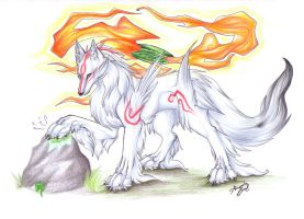 Furry Amaterasu by DRagonka