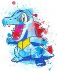Totodile by LukeFielding